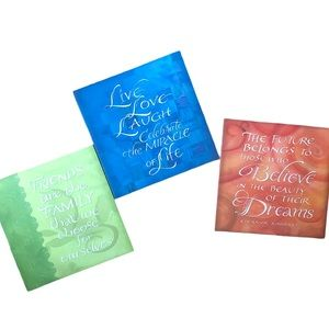 ⭐️ three quote pictures for your wall size 10x10